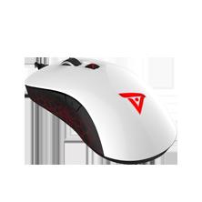预言者智能版烈岩TSG600H 有线电竞游戏鼠标 白背黑侧