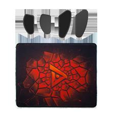 MOBA游戏套件(粗面布质鼠标垫+超滑脚贴)