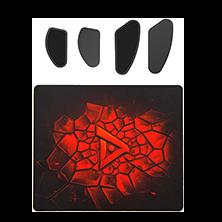 钛度 RTS游戏套件 树脂鼠标垫+普通脚贴