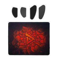 钛度 MOBA游戏套件(5MM加厚粗面布垫+超滑脚贴) 粗面布质鼠标垫+超滑脚贴